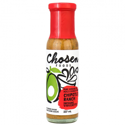 Chosen Foods Avocado Oil Chipotle Ranch Dressing & Marinade, 237ml