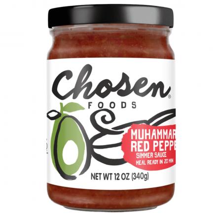 Chosen Foods Muhammara Red Pepper Simmer Sauce, 340g