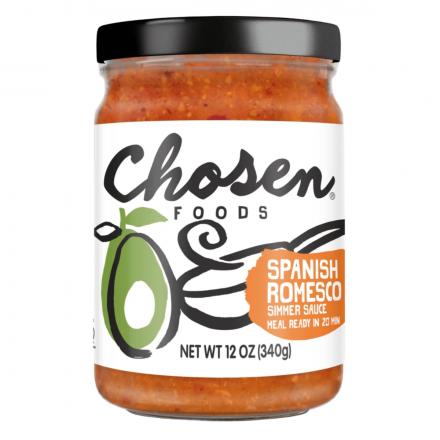 Chosen Foods Spanish Romesco Simmer Sauce, 340g