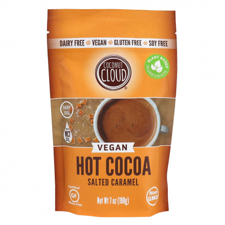 Front of Coconut Cloud Vegan Hot Cocoa Salted Caramel, 198g