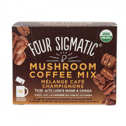 Four Sigmatic Mushroom Coffee Mix with Lion's Mane & Chaga, 10 bags