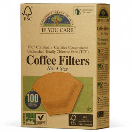 If You Care FSC Certifited Unbleached Coffee Filters - #4 Size, 100 ct