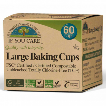If You Care FSC Certifited Unbleached Large Baking Cups, 60 ct