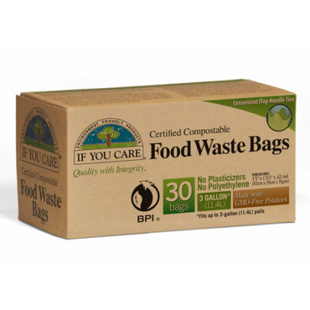 If You Care 3 Gallon Compostable Food Waste Bags, 30 bags