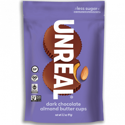 Unreal Dark Chocolate Almond Butter Cups, 91g