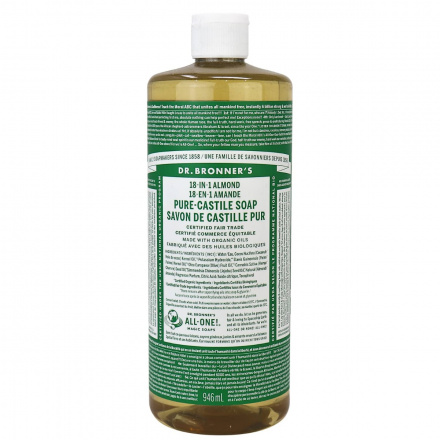 Dr. Bronner's Organic Almond Oil Pure Castile Liquid Soap, 946ml