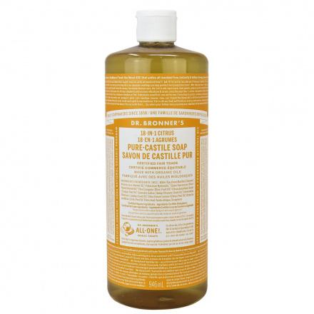 Dr. Bronner's Organic Citrus Pure Castile Liquid Soap, 946ml