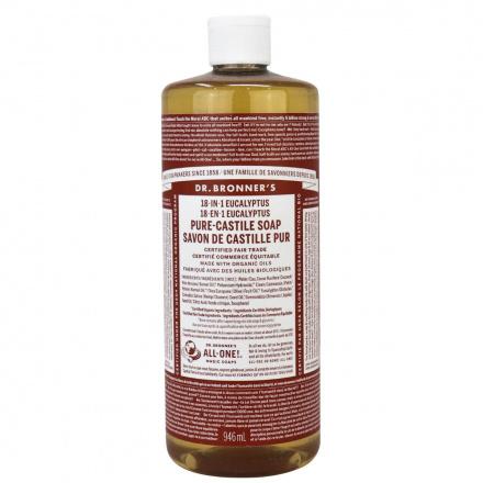Dr. Bronner's Organic Eucalyptus Pure Castile Liquid Soap, 946ml
