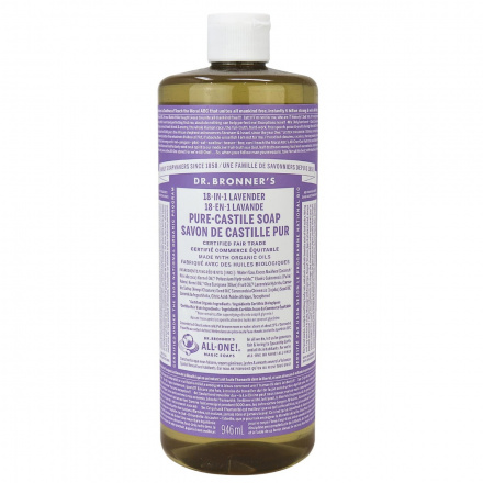 Dr. Bronner's Organic Lavender Oil Pure Castile Liquid Soap, 946ml