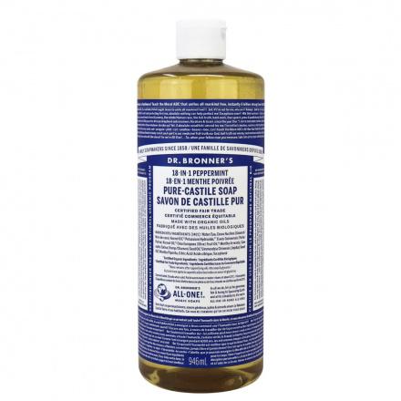 Dr. Bronner's Organic Peppermint Oil Pure Castile Liquid Soap, 946ml