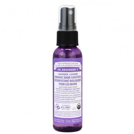 Dr. Bronner's Organic Hand Sanitizer Lavender, 59ml