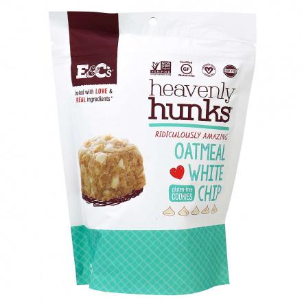 E&C's Heavenly Hunks Gluten-Free Cookies Oatmeal White Chip, 170g