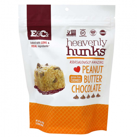Heavenly Hunks Gluten-Free Cookies Peanut Butter Chocolate, 170g