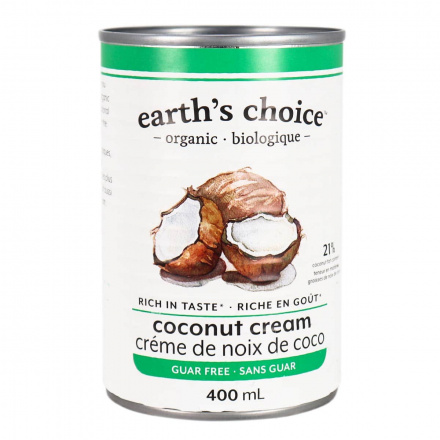 Front of Earth's Choice Organic Coconut Cream, 400mL
