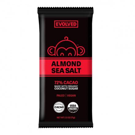 Eating Evolved 72% Almond & Sea Salt Primal Chocolate, 71g