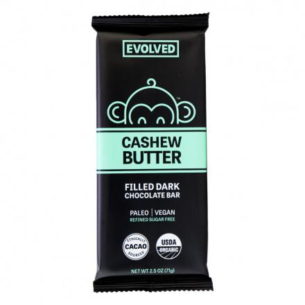 Evolved Cashew Butter Filled Bar 72% Cacao, 71g