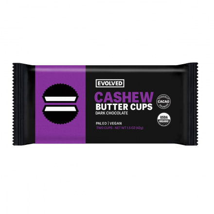 Eating Evolved Dark Chocolate Cashew Butter Cups, 42g