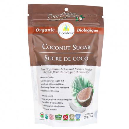 Front of Ecoideas Organic Coconut Sugar, 227g