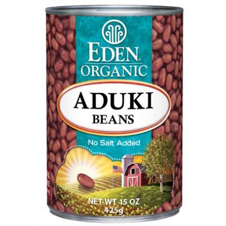 Eden Organic Aduki Beans No Salt Added BPA Free Can, 425g