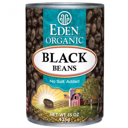 Eden Organic Black Beans No Salt Added BPA Free Can, 425g