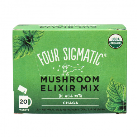 Four Sigmatic Instant Chaga Mushroom Elixir Mix, 20 Bags