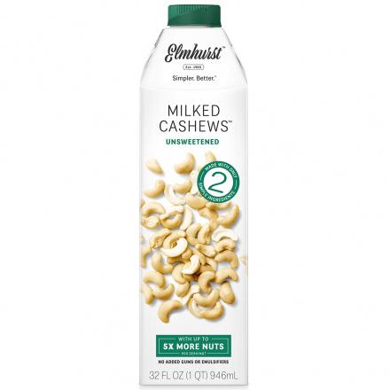 Elmhurst Unsweetened Cashew Milk, 946ml