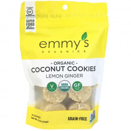 Emmy's Organics Coconut Cookies Lemon Ginger, 170g