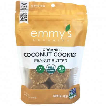Emmy's Organics Grain-Free Coconut Cookies Peanut Butter, 170g