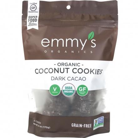Emmy's Organics Grain-Free Coconut Cookies Dark Cacao, 170g