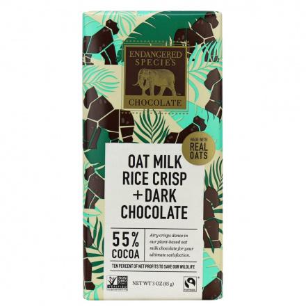 Endangered Species Chocolate Oat Milk Rice Crisp & Dark Chocolate, 85g