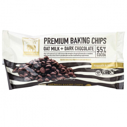 Endangered Species Premium 55% Cocoa Dairy-Free Baking Chips, 285g