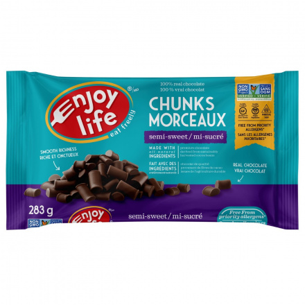 Enjoy Life Semi-Sweet Chocolate Mega Chunks, 283g