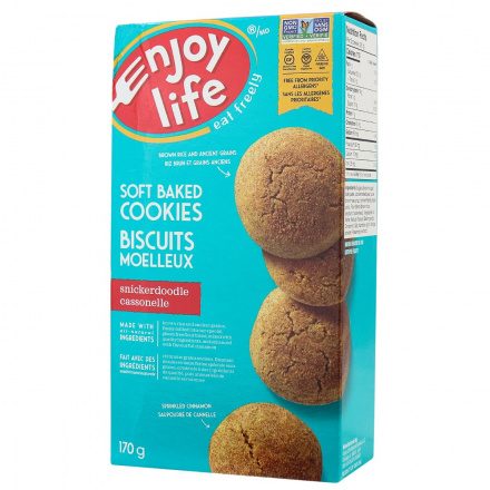 Enjoy Life Gluten-Free Soft Baked Cookies Snickerdoodle, 170g