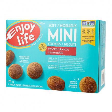 Enjoy Life Gluten-Free Soft Baked Mini Cookies Snickerdoodle, 170g