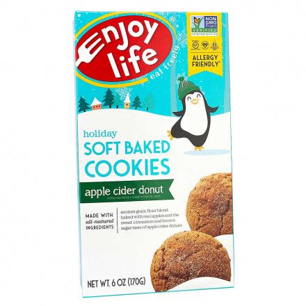 Enjoy Life Holiday Soft Baked Apple Cider Donut Cookies, 170g