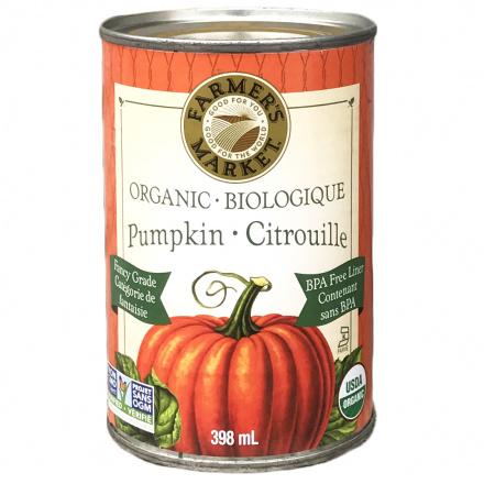 Farmer's Market Organic Pumpkin Puree, 397g