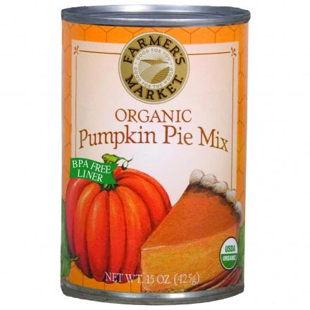 Farmer's Market Organic Pumpkin Pie Mix, 398ml
