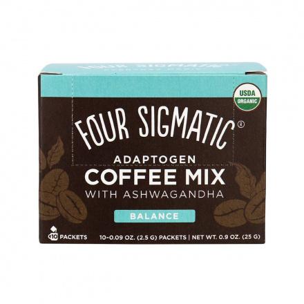 Four Sigmatic Organic Adaptogen Coffee Mix with Ashwagandha Balance - 10 Packets