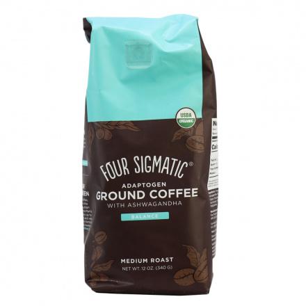 Four Sigmatic Organic Adaptogen Ground Coffee with Ashwagandha Balance Medium Roast, 340g