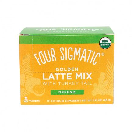 Four Sigmatic Mushroom Golden Latte Mix with Turkey Tail Defend - 10 Packets