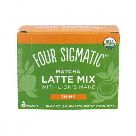Four Sigmatic Organic Matcha Latte Mix with Lion's Mane Think - 10 Packets