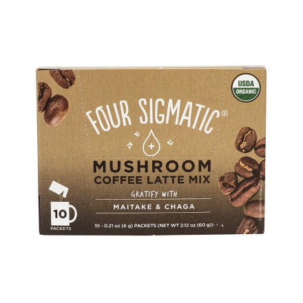 Four Sigmatic Mushroom Coffee Latte Mix Gratify with Maitake and Chaga - 10 Packets