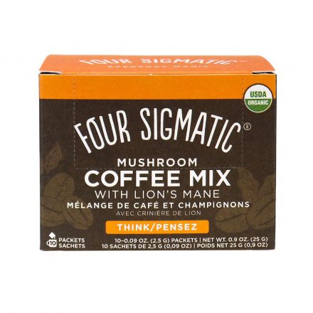 Four Sigmatic Organic Mushroom Coffee Mix with Lion's Mane Think - 10 Packets