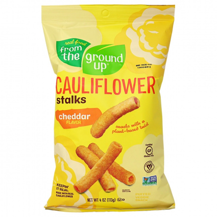 From The Ground Up Cauliflower Stalks Cheddar, 113g