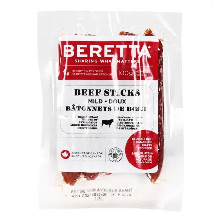Front of Beretta Beef Sticks Mild