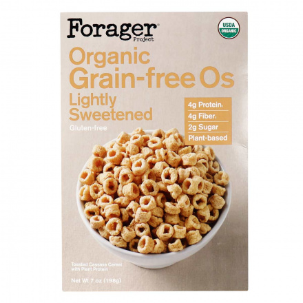 Front of Forager Project Organic Grain-Free Os Lightly Sweetened