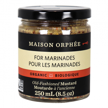 Front of Maison Orphee Organic Old-Fashioned Mustard