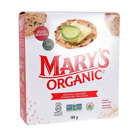 Front of Mary's Gone Crackers Organic Gluten-Free Crackers Original, 184g