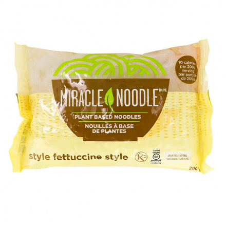 Front of Miracle Noodle Fettuccini Style
