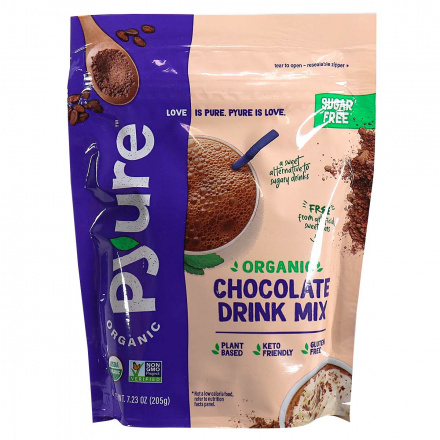 Front of Pyure Organic Sugar-Free Keto Chocolate Drink Mix, 205g